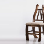 Pine and Fir Chair with Pronghorn Hide Seat.