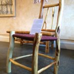 Diamond Willow Chair with Woven Shaker Tape Seat.