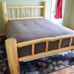 Lodgepole Log Bed- Queen-size