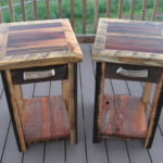 Nightstands- Barnwood and more Barnwood. Glossy top with epoxy coating.