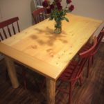 Dining Room Table- Pine and Fir with Mortise-and-Tenoned Breadboard Ends