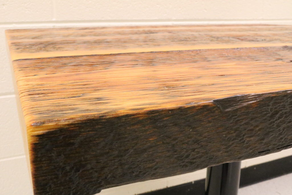 Barnwood Cafe Table, Detail View.