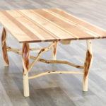 Maple and Cherry Coffee Table. Maple reclaimed from industrial pallets. Diamond Willow base.