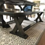 7 foot long maple dining room bench