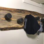 Wall-mounted slab coat rack